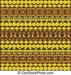 tradycyjny, próbka, afrykanin