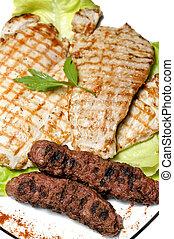 tradycyjny, romanian, opieczone mięso