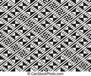 tradycyjny, starożytny, gmach modelują, -, seamless, rhombuses, tekstylny, wektor, afrykanin, wielostrzałowy, projektować, budowa