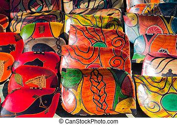 tradycyjny, targ, afrykanin