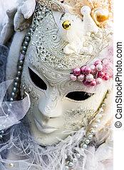tradycyjny, wenecka maska, karnawał