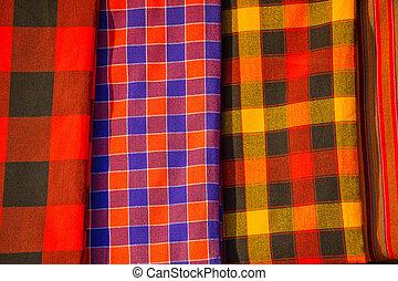 tradycyjny, wschód, tekstylia, afrykanin