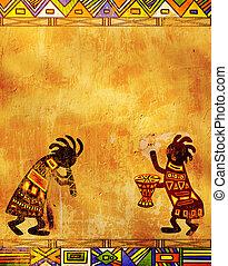 tradycyjny, wzory, afrykanin