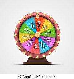 traf, barwny, wheel., odizolowany, tło., biały