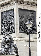 Trafalgar Square Lion in London