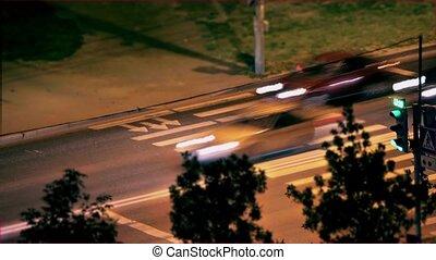 Traffic at Night Time-Lapse