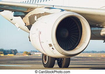 Engine of the airplane