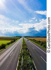traffic., autoroute