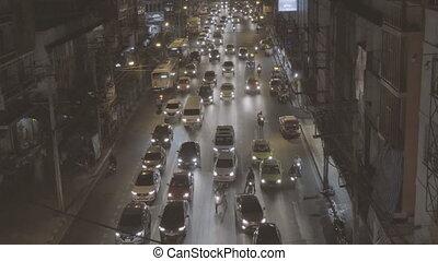 traffic bangkok - Top View Cityscape Bangkok Traffic...