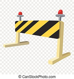Traffic barrier cartoon icon