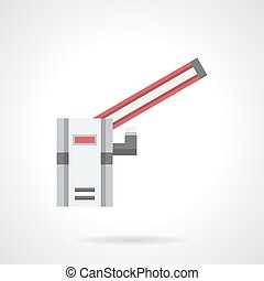 Traffic barrier flat color vector icon