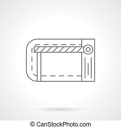 Traffic barrier flat line vector icon