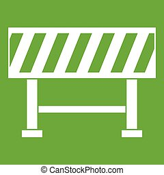 Traffic barrier icon green