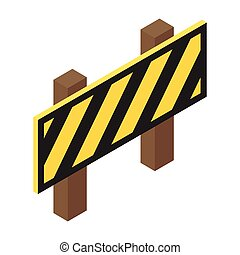 Traffic barrier isometric 3d icon