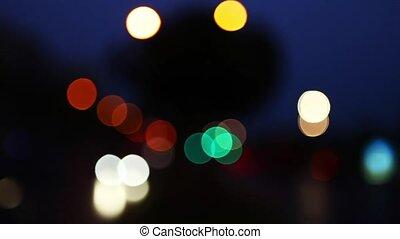 Traffic bokeh at Night