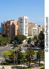 Traffic circle in Malaga