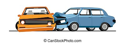Traffic collision of cars, road accident of vehicles - Car ...