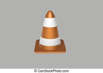 Traffic cone 3d illustration