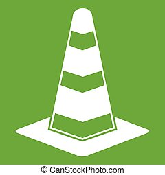 Traffic cone icon green