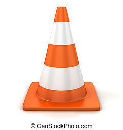 traffic cone isolated over white