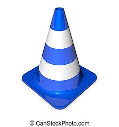 Traffic Cone - Shiny Blue