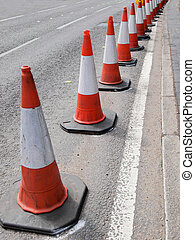 Traffic cone used in street road works