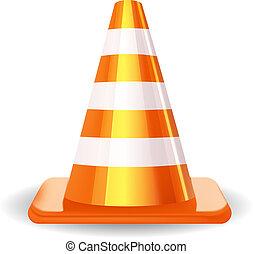 Traffic Cone. Vector illustration