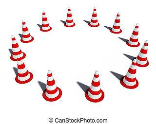 traffic cones 3d cg do not enter