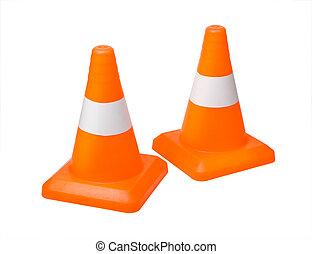 Traffic cones isolated