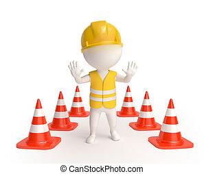 traffic-cones, trabajador