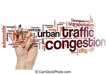 Traffic congestion word cloud