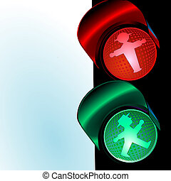 traffic control signal, little man