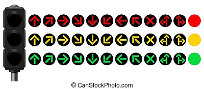 Traffic Control Signals Arrows