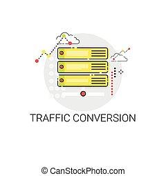 Traffic Conversion Marketing Optimization Icon