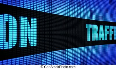 Traffic Conversion Text Scrolling LED Wall Pannel Display...
