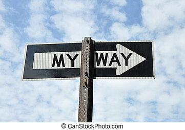 Traffic Directional Arrow My Way