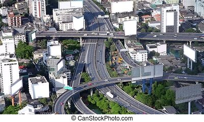 """traffic from high angle - """"City panaroma from one of the..."""