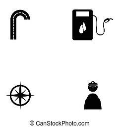 traffic icon set