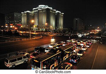 Traffic in Beijing China - BEIJING - MARCH 12: Traffic jam ...