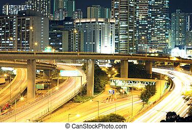 traffic in downtown of Hong Kong