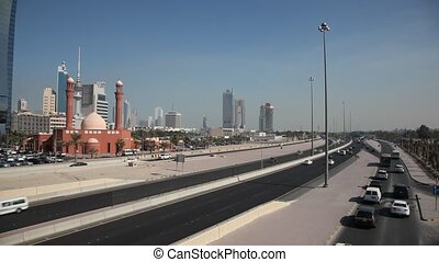 Traffic in Kuwait City - Traffic on the First Ring Road in...