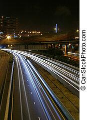 Traffic in modern city