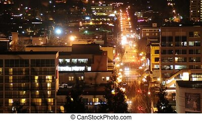 Traffic in the City at night time