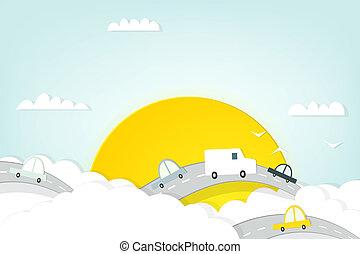 traffic in the clouds