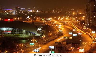 traffic in the night city