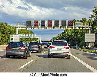 traffic jam, autobahn, germany