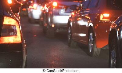 Traffic jam. Car stand in traffic