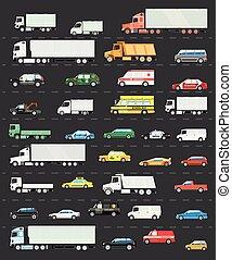 Traffic jam on the road, Road transportation