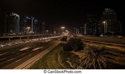traffic jam on the Sheikh Zayed Rd