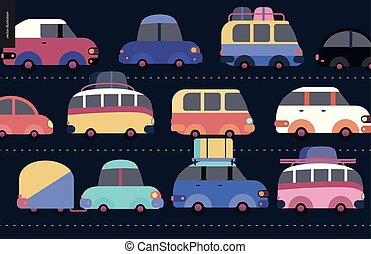 Traffic jam scene